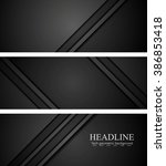 abstract black tech concept... | Shutterstock .eps vector #386853418