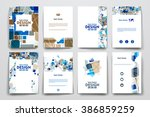 set of brochure  poster design... | Shutterstock .eps vector #386859259