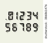 set of digital numbers in a... | Shutterstock .eps vector #386861476