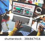 automation modern technology... | Shutterstock . vector #386867416