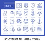 line vector icons in a modern... | Shutterstock .eps vector #386879083