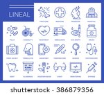 line vector icons in a modern...   Shutterstock .eps vector #386879356