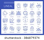 line vector icons in a modern... | Shutterstock .eps vector #386879374