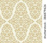 seamless damask pattern. ornate ... | Shutterstock . vector #386879626