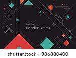 flat vector of geometric... | Shutterstock .eps vector #386880400