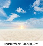 sand and beach with sunset | Shutterstock . vector #386883094