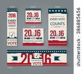 voting banners vector set... | Shutterstock .eps vector #386885656