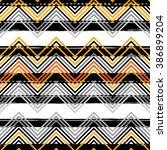 seamless vector ethnic pattern. ... | Shutterstock .eps vector #386899204