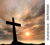 concept conceptual black cross... | Shutterstock . vector #386900068