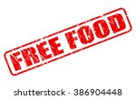 free food red stamp text on... | Shutterstock .eps vector #386904448