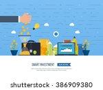 flat line design concept for... | Shutterstock .eps vector #386909380