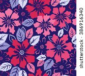 exotic flowers fashion...   Shutterstock .eps vector #386916340