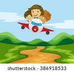 Three Kids Flying The Plane...