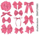 realistic pink gift ribbon | Shutterstock .eps vector #386919880