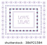 beautiful abstract flower frame.... | Shutterstock .eps vector #386921584