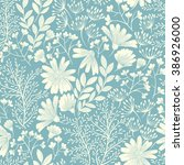 seamless floral background... | Shutterstock .eps vector #386926000