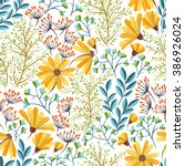 Seamless Colorful Floral...