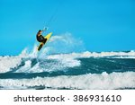 recreational water sports... | Shutterstock . vector #386931610