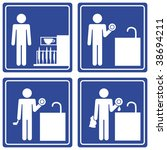 Pictograph   Washing Dishes ...