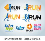 sport club  running club vector ... | Shutterstock .eps vector #386948416