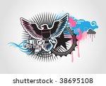vector illustration of style... | Shutterstock .eps vector #38695108