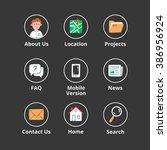 website icons vector set ... | Shutterstock .eps vector #386956924