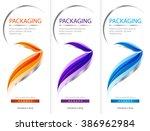 package template box design... | Shutterstock .eps vector #386962984