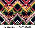 geometric ethnic oriental... | Shutterstock .eps vector #386967418