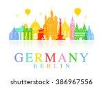 germany  berlin travel landmark....   Shutterstock .eps vector #386967556
