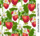 seamless pattern of... | Shutterstock .eps vector #386969770