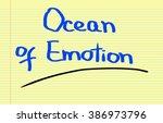 ocean of emotion concept | Shutterstock . vector #386973796