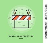 under construction  flat design ... | Shutterstock .eps vector #386978938