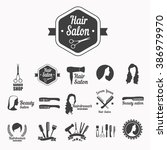 set of vector icons ... | Shutterstock .eps vector #386979970