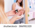 image of female diabetic... | Shutterstock . vector #386981320