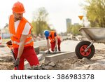 image of strong construction... | Shutterstock . vector #386983378