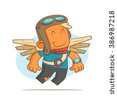 a series of characters on the... | Shutterstock .eps vector #386987218