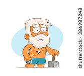 a series of characters on the... | Shutterstock .eps vector #386987248