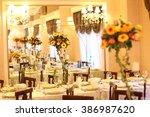 beautiful flower decoration on... | Shutterstock . vector #386987620