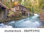 scene of the Cedar creek grist mill in the morning,Washington,usa.