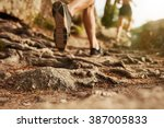 cross country running. closeup... | Shutterstock . vector #387005833