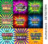 super sale today background for ... | Shutterstock .eps vector #387007894