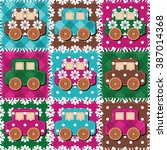 patchwork background with... | Shutterstock . vector #387014368