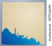 islamic design background... | Shutterstock .eps vector #387016690