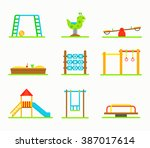 playground equipment vector... | Shutterstock .eps vector #387017614