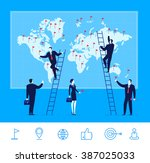 flat design vector illustration ... | Shutterstock .eps vector #387025033