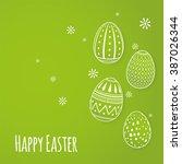 Vector Illustration Of Easter...