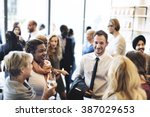 diversity group of people meet... | Shutterstock . vector #387029653