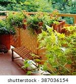 urban balcony garden | Shutterstock . vector #387036154