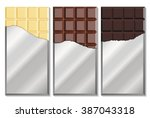 chocolate bar in foil isolated...