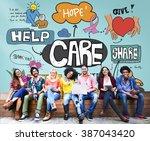 care assurance secured... | Shutterstock . vector #387043420